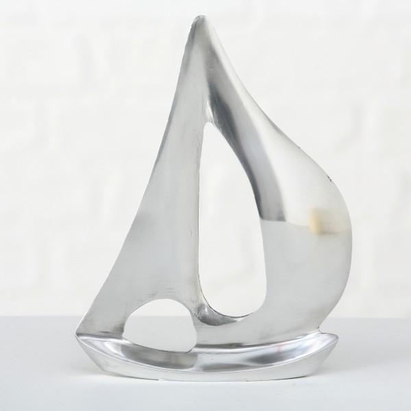 Dekoaufsteller Snow Star, (silber/Aluminium) kleine Variante