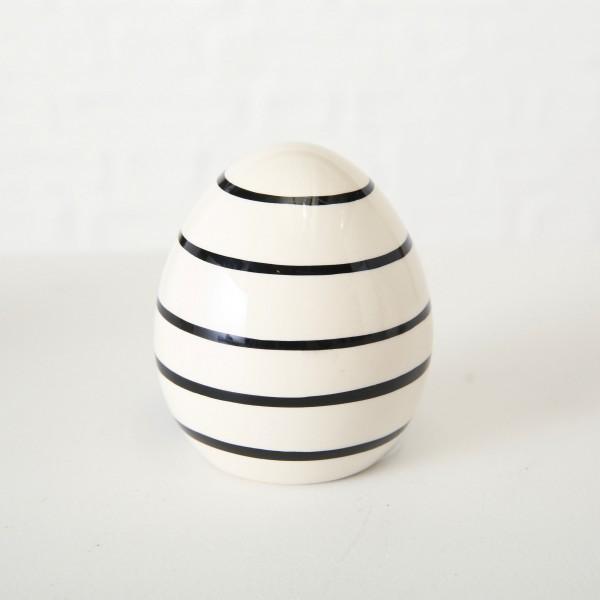 Dekoaufsteller Ei klein mit Streifen