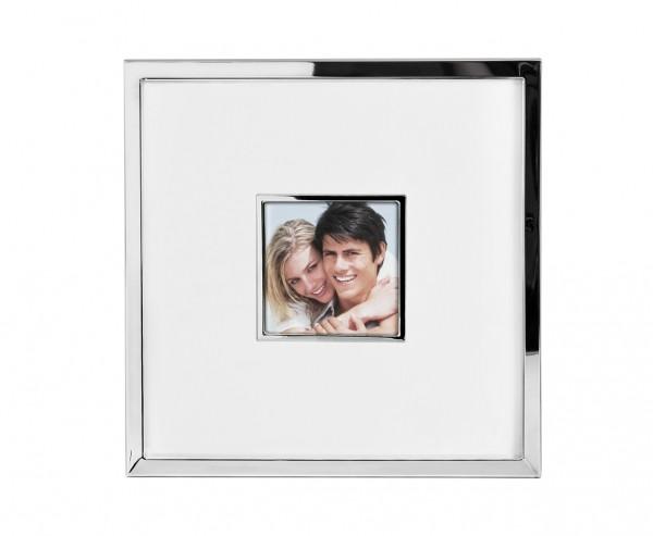 Fotorahmen Ribera für Foto 13 x 13 cm, Gesamtgröße 35 x 35 cm, edel versilbert, anlaufgeschützt