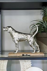 Happy Hunting Dog Statue