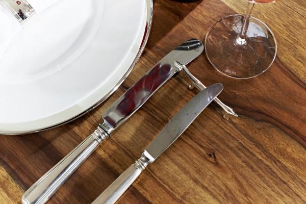 Buttermesser Faden, klassisches Design, edel versilbert, Länge 15 cm
