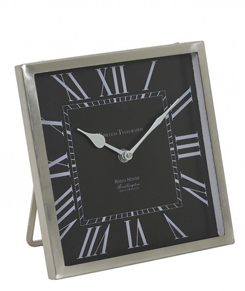 Uhr 21x21x3 cm KELSTON Schwarz-antik Blei