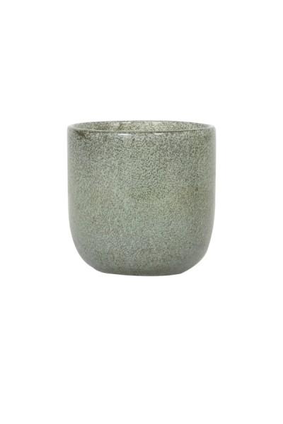 Teelicht Ø10,5x11 cm TATHRA Glas Grün