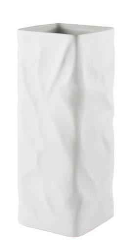 Kaheku Vase Carta eckig weiss 12x12x30cm