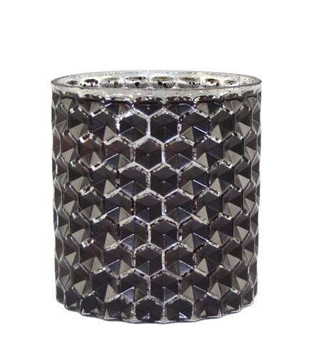 Kaheku Tischlicht Wolga schwarz silber 11 Ø 12h