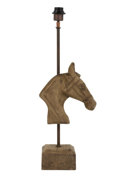 Light & Living Lampenfuss 27x14x69 cm HORSE Holz weather barn