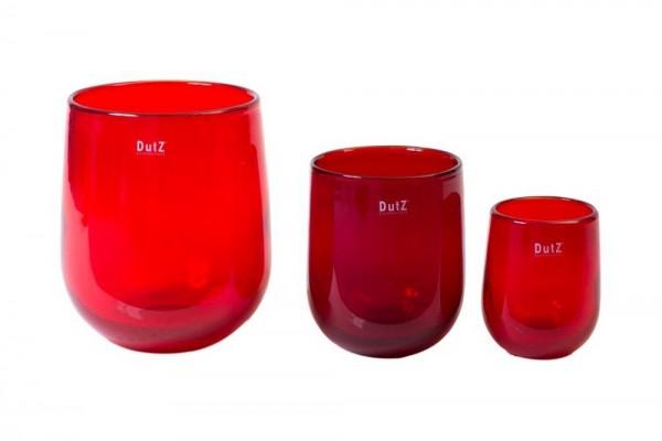 DutZ BARREL - H13 D10 cm - RED(1. Vase von rechts)