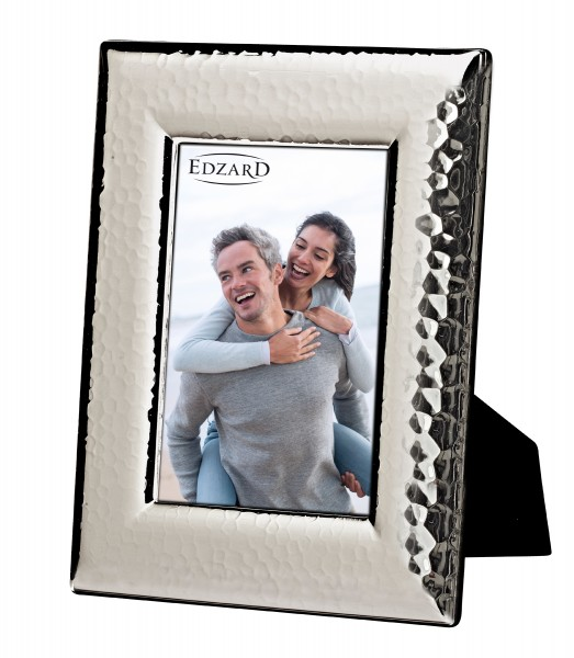 Fotorahmen Positano, gehämmert, für Foto 13 x 18 cm, edel versilbert, anlaufgeschützt, 2 Aufhänger