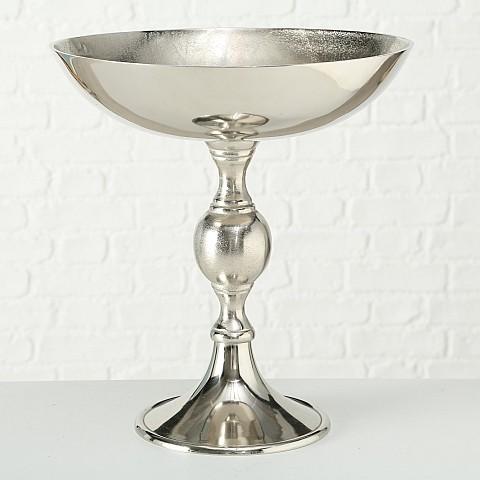 Schale Sara, Deko, H 44 cm, D (silber/Aluminium)