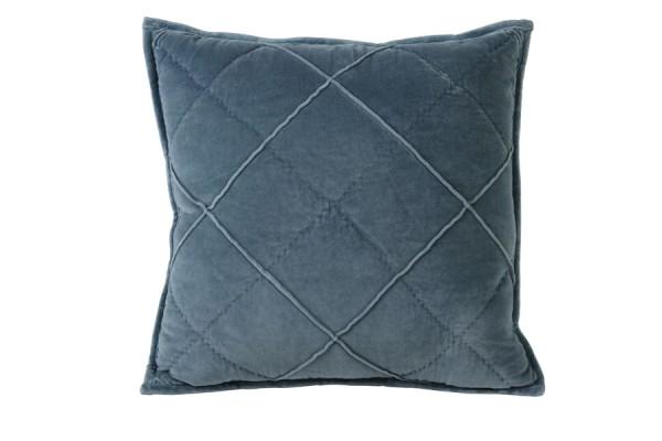Kissen 50x50 cm DIAMOND velvet blau