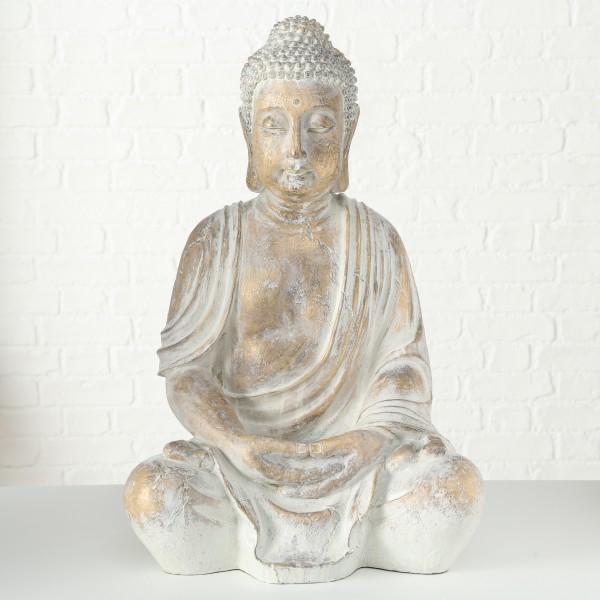 Figur Flyn, Buddha, H 67 cm, (gold/Kunstharz)