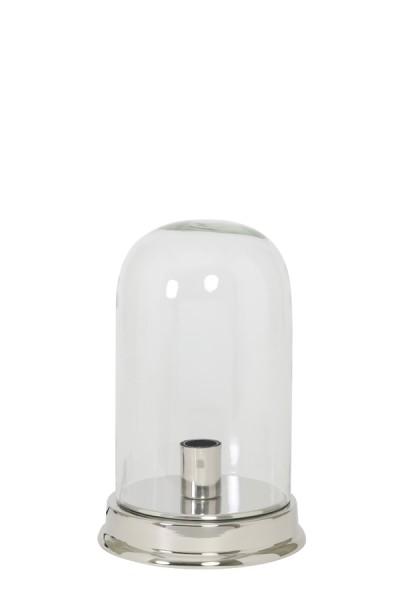 Light & Living Tischleuchte Ø23x35,5 cm BOUALI Glas klar-nickel