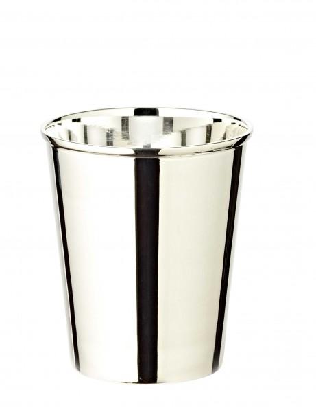 Silberbecher Trinkbecher Becher Mido, edel versilbert, Höhe 10 cm