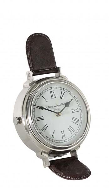 Uhr 19x19x28 cm WATCH stehend Nickel