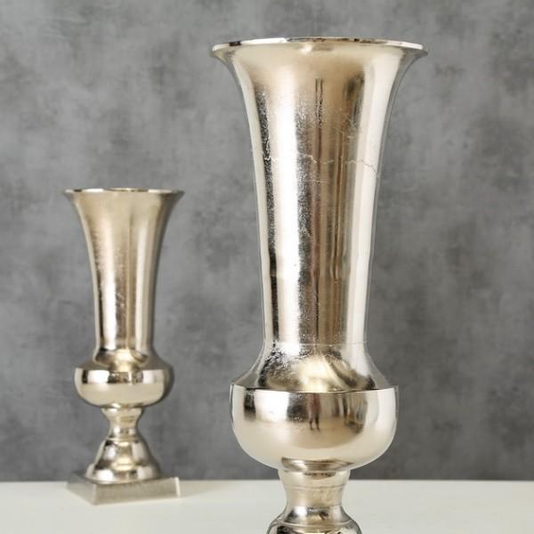 Vase Tofino, Deko, H 58 cm, (silber/Aluminium)