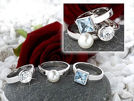 Ring 925 silber rhodiniert 70199