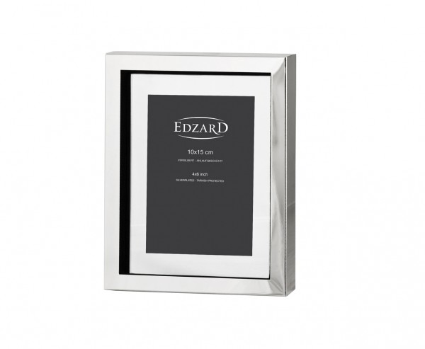 Fotorahmen Bilderrahmen Caserta für Foto 10 x 15 cm, edel versilbert, anlaufgeschützt