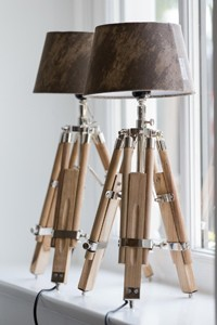 Classic Tripod Lamp teak S