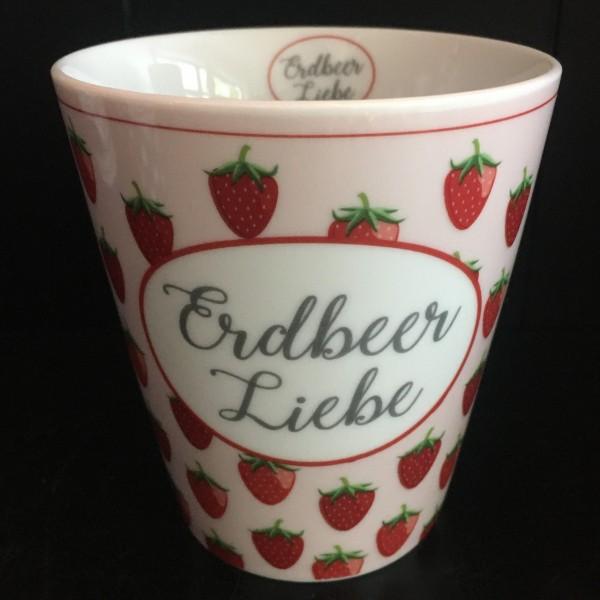 Becher erdbeer liebe