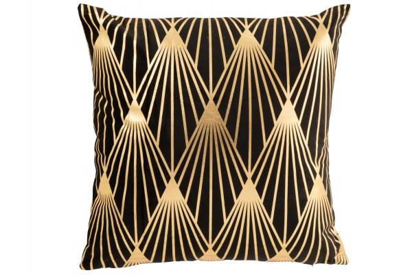 Kissen Gatsby Polyester Schwarz/Gold