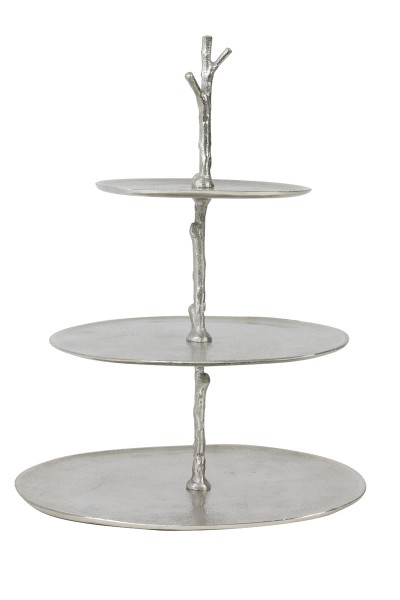 Light & Living Etagere 3 Schichten 35x31x45 cm TRESA roh nickel