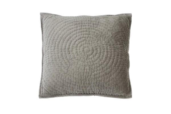 Kissen 50x50 cm CIRCLE velvet Silber Grau