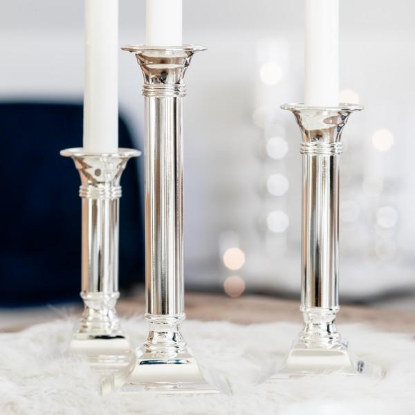 Kerzenleuchter Lincoln für Stabkerze,edel versilbert, anlaufgeschützt, Höhe 19 cm