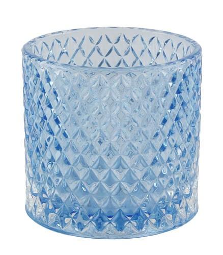 Kaheku Tischlicht Haska zylinder hellblau 10,5 Ø 10h