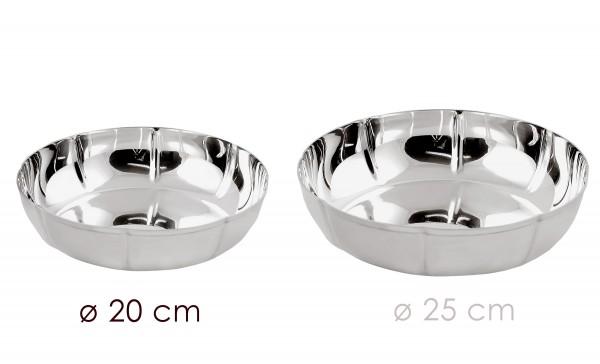 Schale Dekoschale Servierschale Chippendale, schwerversilbert, Durchmesser 20 cm