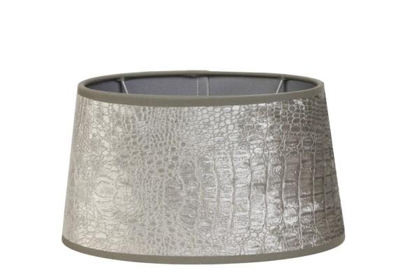 Light & Living Lampenschirm n-ellips 21-17,5-12 cm CHELSEA velours silber