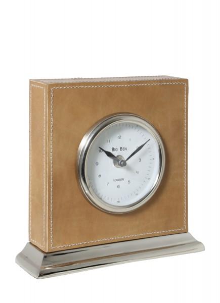 Light & Living Uhr 20x6x19,5 cm BIG BEN nickel leder braun