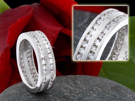 Ring 925 silber rhodiniert 5896
