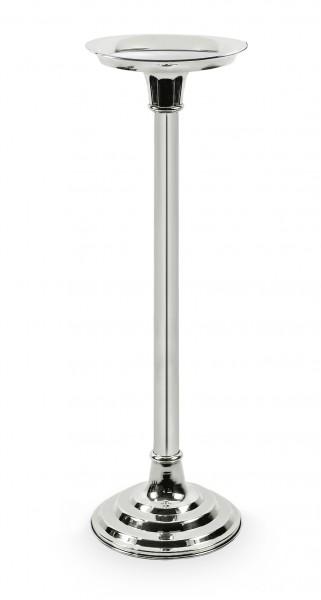 Sektkühlerständer / Ständer für Kühler Champagne, schwerversilbert, H 59 cm, Abstellfläche ø 18 cm