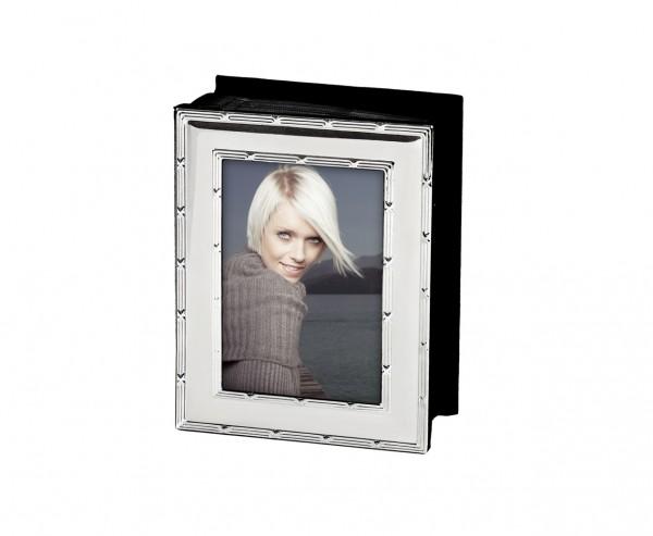 Fotoalbum Album Melissa für 100 Fotos 10 x 15 cm, edel versilbert, anlaufgeschützt, schwarze Seiten