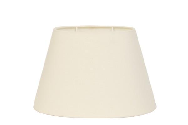 Lampenschirm oval 20-14-14 cm COTTON crème