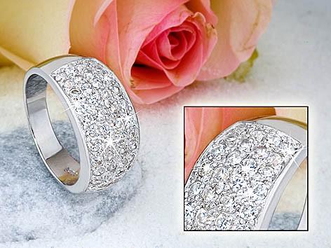 Ring 925 silber rhodiniert 8206