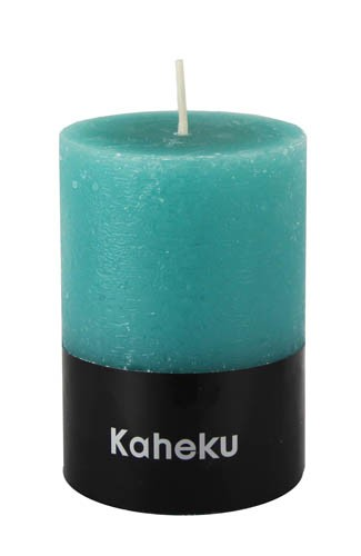 Kaheku Cylinderkerze türkis 10 Ø 18h