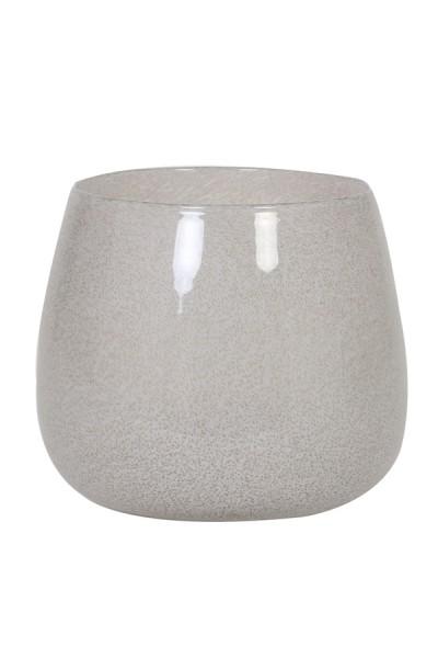 Vase Ø26x22 cm MUMBULLA Glas Weiss