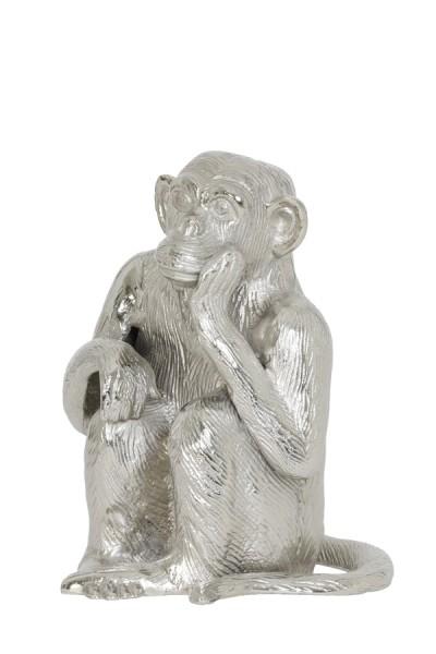 Ornament 21x18x26 cm MONKEY Nickel