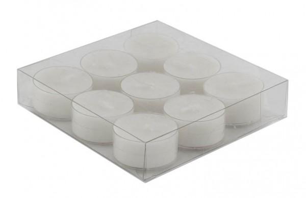 Kaheku Teelicht Okon 9Stk/Box weiss 3,8 Ø 1,8h