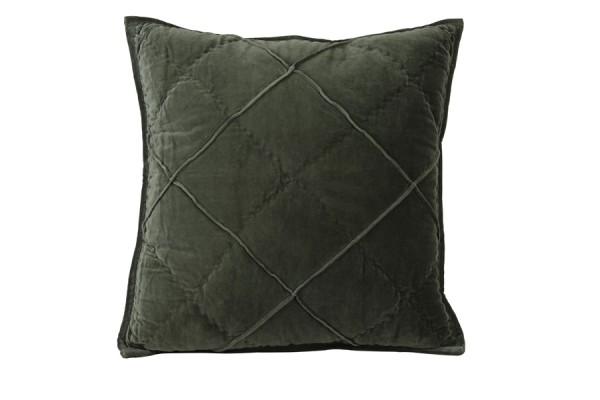Kissen 50x50 cm DIAMOND velvet armeegrün