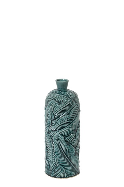 Vase Deko Ø16,5x43 cm LAVERO Keramik dunkel grün