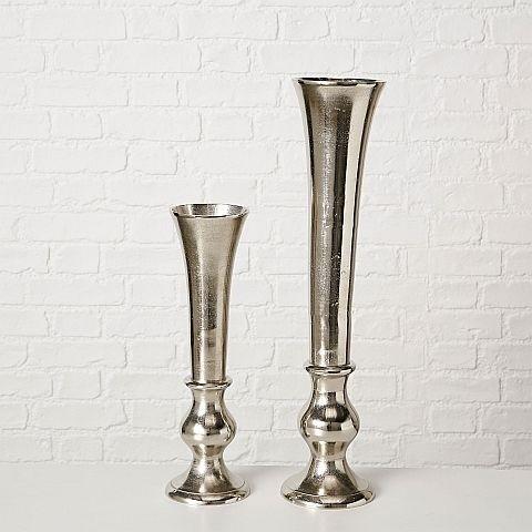 Vase Phillina, Deko, H 46 cm, (silber/Aluminium)