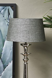 Loveable Linen Lampsh grey 25x30