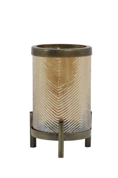 Light & Living Windlicht Ø13x21,5 cm TIBOR glas gold luster+antik bronze