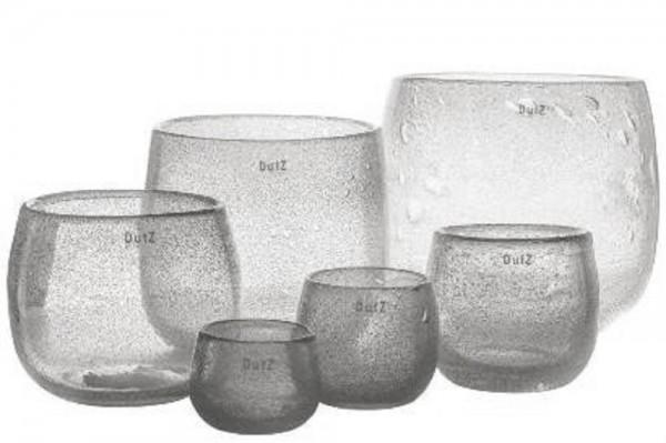 DutZ POT - H6 D8 cm - CLEARBUBBLES(lkeinstes Glas)