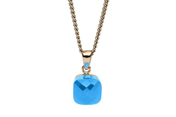 Halsketten-Anhänger FIRENZE big (G/P) turquoise opal