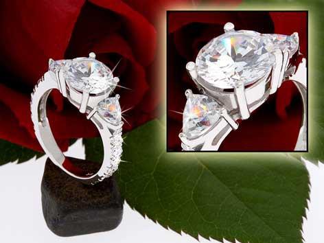 Ring 925 silber rhodiniert 8458