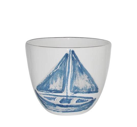 Kaheku Kübel Nautic Boot blau 15 Ø 12,5h