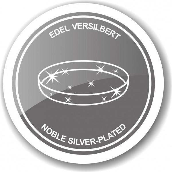 Serviertablett Tablett Teller Venice, rund, edel versilbert, Durchmesser 31 cm